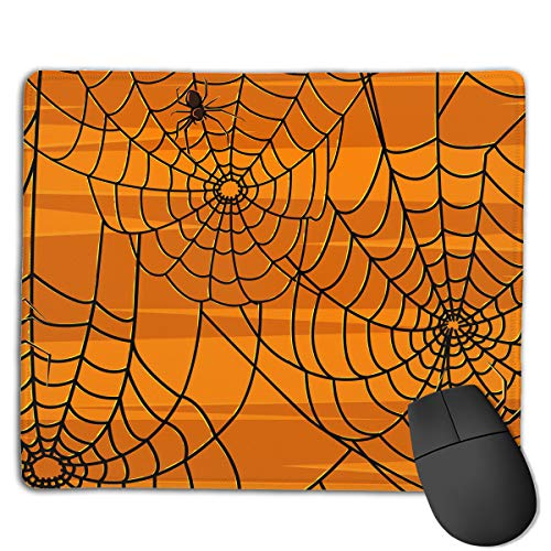 (Miniisoul Non-Slip Rubber Base Mousepad for Laptop Computer PC Personality Desings Gaming Mouse Pad Mat (Scary Halloween Spiders Graphics, 8.66 X 7.08)