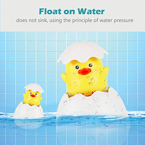KAREZONINE Baby Bath Toys for Toddlers Duck Hatching Squirting Egg Rain Cloud Egg Bathtub Water Toys with Hidden Duck Pool Floating Toys for Boys Girls Kids Birthday Christmas Toys