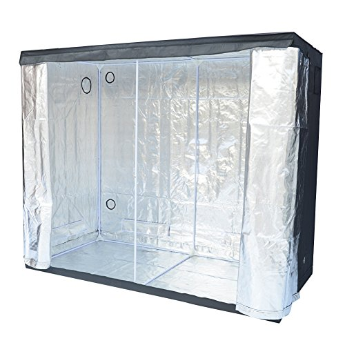 """51QQiF7%2BKmL - Grow Tent Indoor 8x4 Feet Not Include LED - Large Reflective Mylar Hydroponic/Hydro Waterproof Seedling Plant Growing Room for Grow Tents, Black 96""""x48""""x78"""""""