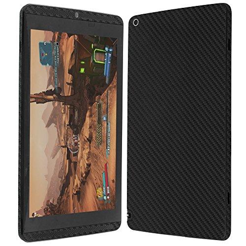 Nvidia Shield Tablet Screen Protector + Carbon Fiber Full Body, Skinomi TechSkin Carbon Fiber Skin for Nvidia Shield Tablet with Anti-Bubble Clear Film Screen