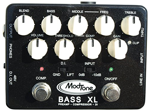 ModTone Guitar Effects ModTone Bass Xpander Pre-amp Direct Box with built in compressor (MT-BX)