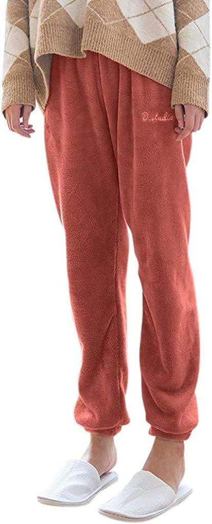 NTNY3 Womens Jogger Pyjama Bottoms Sleep Lounge Pants Casual Ladies Nightwear Elastic Waist Pjs Trousers Pajama