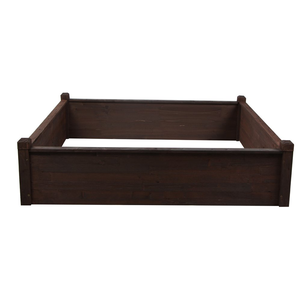 VIVA HOME 4 Ft. X 4 Ft. X 1 Ft. Raised Garden Bed Kit Patio Backyard Elevated Planter Box by VIVA HOME