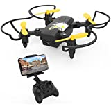 Mini Drone with Camera, Becrot Foldable Drone with HD Live Video for Kids Beginners 2.4G 6 Axis FPV Quadcopter with Headless Mode, Altitude Hold & One Key Take off and 3D Flip
