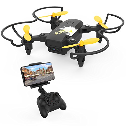 Mini RC Drone with Camera, Becrot Foldable Drone with HD Live Video for Kids Beginners 2.4G 6 Axis FPV Quadcopter with Headless Mode, Altitude Hold & One Key Take off and 3D Flip