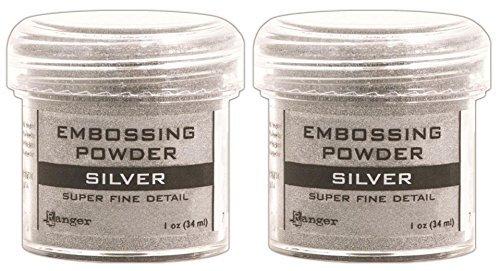 2-Pack - Ranger Embossing Powder, Super Fine Silver