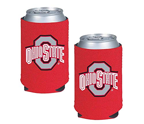 NCAA Fan Shop Authentic 2-Pack Insulated 12 Oz Can Cooler. Show School Pride at Home, Tailgating or at a Game. Great for Students, Alumni or Fans. (Ohio State Buckeyes) -