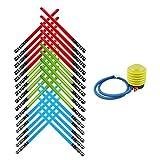 Honey Badger Brands Kids Inflatable Play Light Saber (30 Pack-10 Red, 10 Blue, 10 Green, Air Pump)