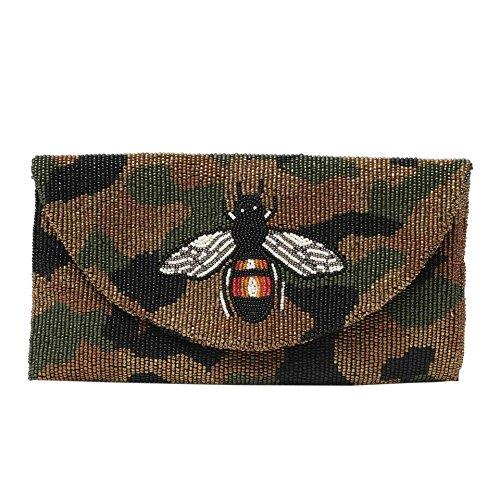 Tiana Camouflage Unique Print Handbag Beaded 7rqRw87