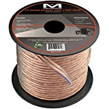 14AWG 2-Conductor Speaker Wire (50 Feet, Clear) by Mediabridge - Spooled Design with Sequential Foot Markings (Part# SW-14X2-50-CL )
