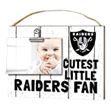 "KH Sports Fan 1001101629 10""x8"" Oakland Raiders Clip It Weathered Baby Logo NFL Photo Frame"