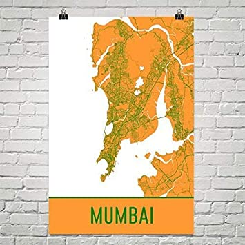Mumbai Poster, Mumbai Art Print, Mumbai Wall Art, Mumbai Wall Art ...