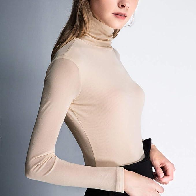 nouler Camisa de Fondo Femenina Otoño E Invierno ...