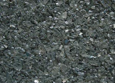 Colored recycled mirror Glass Pebbles (GC7025) Gray, 10 lbs