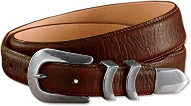 Orvis Bison Tapered-edge Belt With Silver Buckle