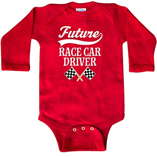 inktastic Future Race Car Driver Racing Long Sleeve Creeper 18 Months (Infant Boys Long Sleeve Race)
