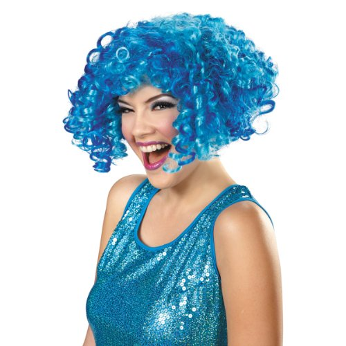 Disguise Sesame Street Cookie Monster Glam Adult Costume Wig, Blue, One Size Adult