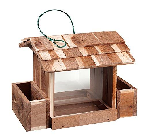 Woodlore Cedar Products Cedar Bird Feeder and Planter Combo