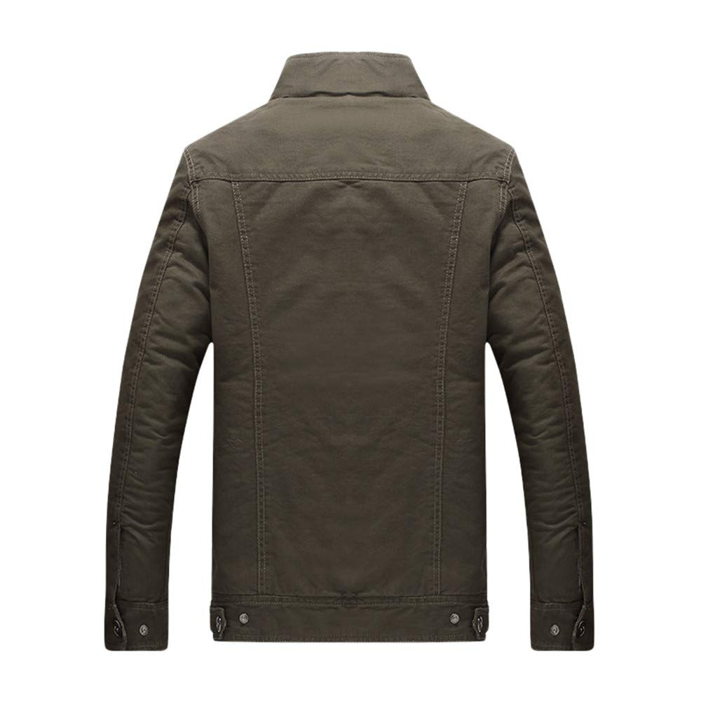YKARITIANNA Mens Jackets & Coats, Winter Warm Villus Casual ...