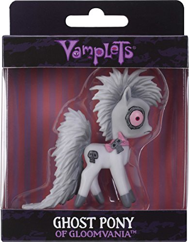 Vamplets Ghost Pony Minifigure from Ride This Little Pony Across Magical Worlds – Soft & Flexible Plastic Mini Figure Toy – 3 Tall - Collect Them All