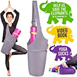 Jambala Yoga Mat Bag and Grip Socks Bundle – Large Yoga Bag with Pockets and Adjustable Shoulder Strap – Our Yoga Mat Carrier is The Perfect Yoga Mat Holder for You For Sale