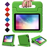 LTROP Case for Fire 7 - Shock Proof Light Weight Kids Case Super Protection Cover Convertible Handle Stand Case for Fire 7 inch Display Tablet (7th Generation - 2017 Release), Green