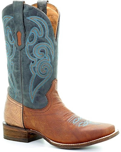 Corral Mens Uomo Turchese Tyson Durfey Performance Line Td Boot Brown 8 D