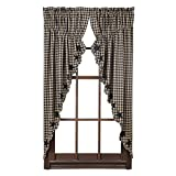 5-Point Stars Appliqued Scalloped Prairie Curtain in Black – Set of 2 Review