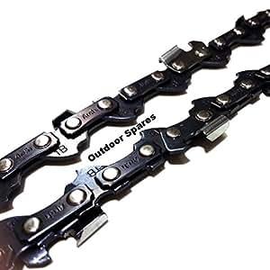 """2x de repuesto cadenas de motosierra 10""""40eslabones motrices de paso 3/8lp calibre 050"""