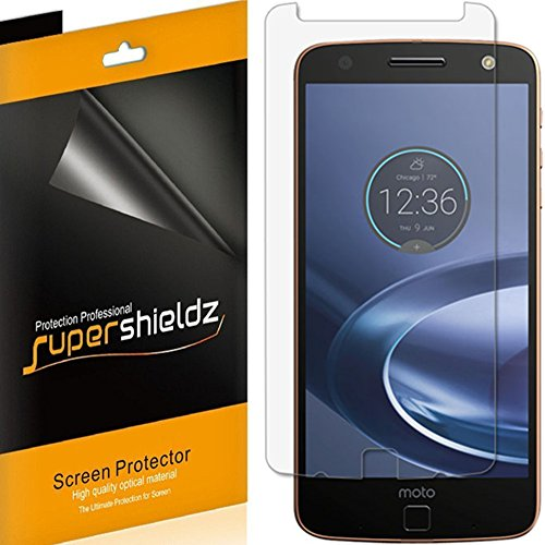 Supershieldz (6 Pack) for Motorola Moto Z Force Droid Screen Protector High Definition Clear Shield (PET)