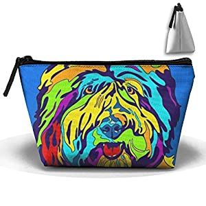Portable Makeup Bag Organizer Travel Magic 3D Printing Old English Sheepdog Cosmetic Bags Brush Storage Pouch For Women Purse 1