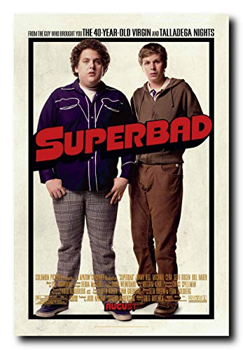 (Mile High Media Superbad Movie Poster 24x36 Inch Wall Art Portrait Print)