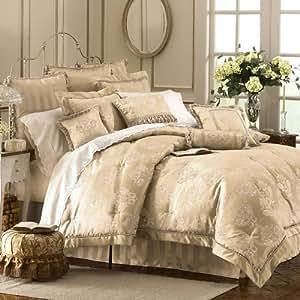 Amazon Com Waterford Dunloe Platinum King Comforter Set 4