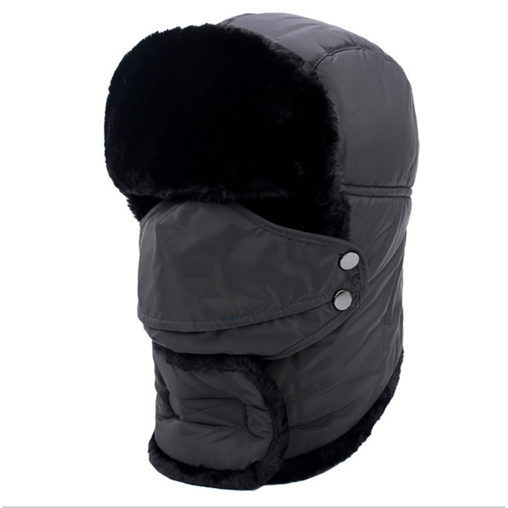 9af8af3fe23 elegantstunning Winter Unisex Outdoor Riding Windproof Thick Warm Cotton  Hats with Breathable Mask -Black (Black) at Amazon Women s Clothing store