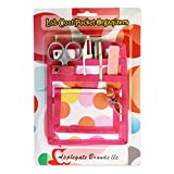 6 Piece Protective Lab Coat Pocket Organizer Kit Has Pretty Pink Dots Pattern You're Sure to Love! Attractive Yet Durable-Made of Super Strong 600d Denier-Perfect Gift for Nurses, Students & You!