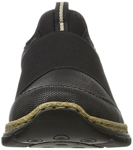 Rieker Women's N3291 Loafers, Black, 3.5 UK Black (Schwarz/Schwarz/Schwarz 00)