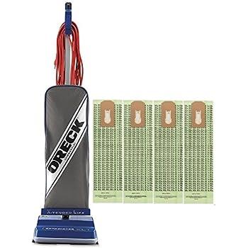 Oreck Commercial XL2100RHS 8 Pound Vacuum with 4 Bags Bundle - Blue