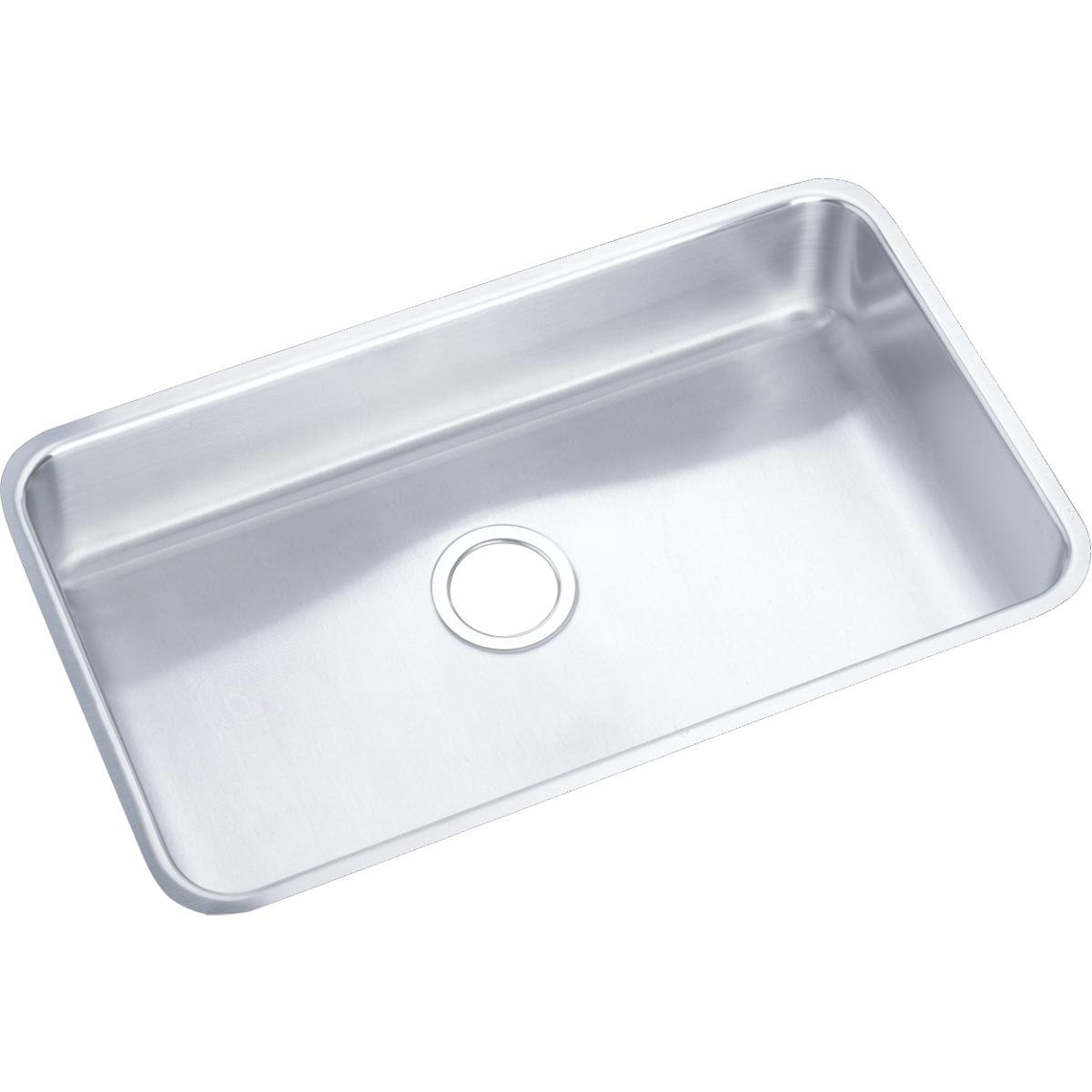 Awesome Elkay Lustertone Eluh2816 Single Bowl Undermount Stainless Steel Kitchen Sink Home Interior And Landscaping Eliaenasavecom