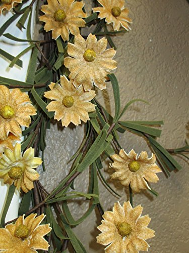 Rustic Country Primitive Tea Stained Daisy Garland Farmhouse Floral Decor by Unknown (Image #3)