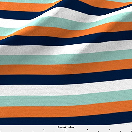 Stripes Fabric Multi Stripes // The Modern Explorer by Littlearrowdesign Printed on Performance Knit Fabric by the Yard by - The Explorer Modern