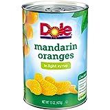 #9: Dole Mandarin Oranges, Whole Segments in Light Syrup, 15 Ounce Can, All Natural Mandarin Orange Segments Packed in Light Syrup, Naturally Fat-Free & Cholesterol-Free, Rich in Vitamin C, No Added Sugar