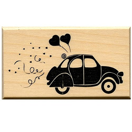Artemio ARTHD270 Wooden Stamp D Wedding Beetle Car