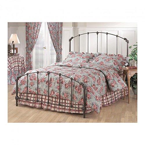 Hillsdale Furniture 346BQR Bonita Bed Set with Rails, Queen, Copper Mist Bonita Metal Bed