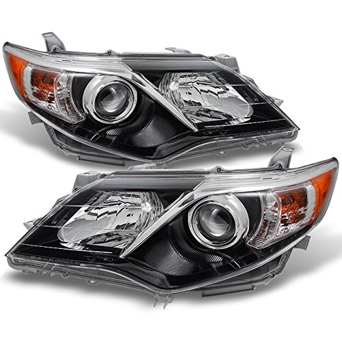 For Toyota Camry SE Version Black Projector Headlights Lamp Driver Left + Passenger Right Replacement