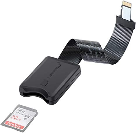 LANMU Micro SD TO SD Card Extension Cable Adapter Flexible Extender