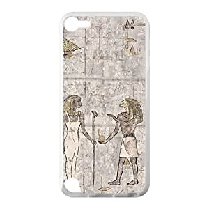 Canting_Good Ancient Egypt Wall Paintingl Custom Case Shell Cover for IPod Touch 5 TPU (Laser Technology)