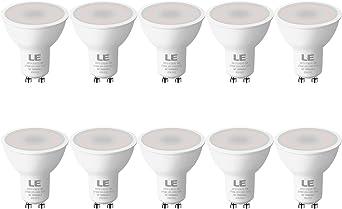 LE Bombilla LED GU10, 5W 450 lúmen, 2700K blanco cálido Lámpara LED GU10, Ahorro de energía