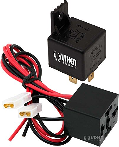 Vixen Horns 4-PIN Relay 40A/12V with Pre-wired Plug/Socket for Horns/Compressors/Alarms/Fog Light VXA7901 (Air Relay Horn)