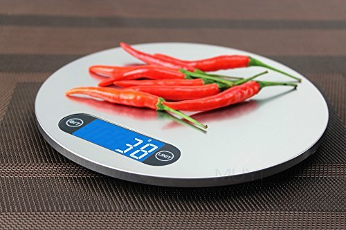 LUOYIMAN kitchen Electronic Scales Stainless Steel Kitchen Scales Touch Kitchen Scales Hung Thin Electronic Scales 5KG/1G