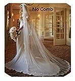 Kyпить Anmor 1T Long Wedding Veils Tulle Lace Applique Bridal Veil Free Comb Ivory 11025 на Amazon.com